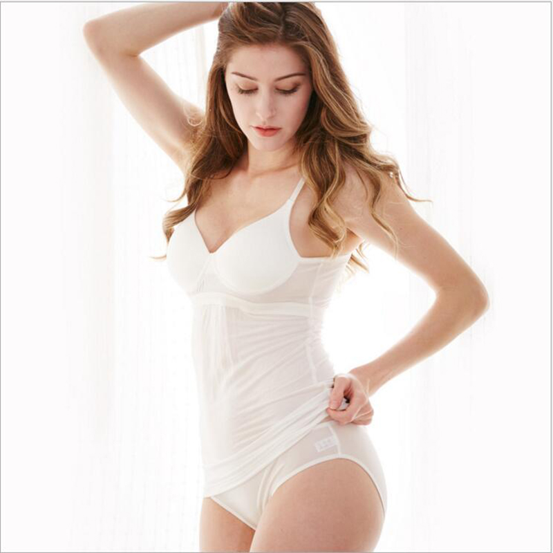 New 100% natural silk vest style rimless bottoming underwear, sleep bra straps one piece knit, thin section - 3