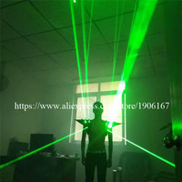 Green Laser Man Ballroom Costume Luminous Vest Light Up Laser Show Waistcoat Super Bright Laserman Party Stage Show Shoulder