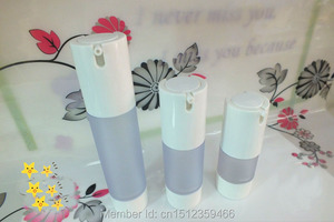 15ML 30ML 50ML Frosted Airless Bottle With No Cover , Plastic Airless Bottle Cosmetics Packaging, 20 Pieces/Lot