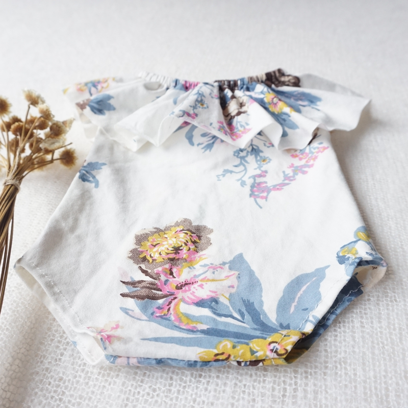 photography props baby girls romper newborn baby girl clothes floral off shoulder girls photo props in Bodysuits from Mother Kids