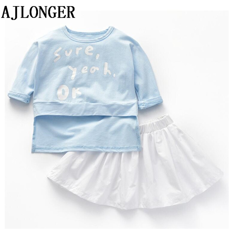 AJLONGER Summer Children Clothing Set Toddler Girl Fashion Sweet Dress Clothes