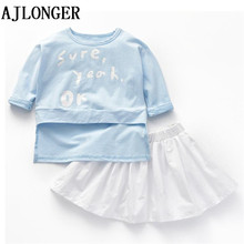 AJLONGER Summer Children Clothing Set Toddler Girl Fashion Sweet Dress Clothes