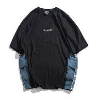 Summer T Shirt Men Fashion Pocket Stitching Casual Short Sleeve T shirt Streetwear Cotton Tshirt Male Tops Harajuku Cool Comfort