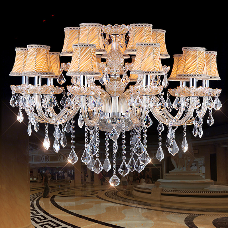 Chandelier modern Crystal lamp For Living room Bedroom Kitchen Chandelier K9 Crystal with Lampshade Crystal chandelier lighting modern lamp crystal chandelier lighting aslo for wholesale