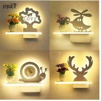 Nordic criativo antlers prateleira led lâmpada de parede para o quarto estudo romântico sala estar decoração arandelas parede crianças lâmpada cabeceira|Luminárias de parede| |  -
