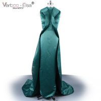 New Arrival Prom Dresses 2016 Emerald Green Prom Dress Sheath Taffeta Long Evening Dresses Back Zipper