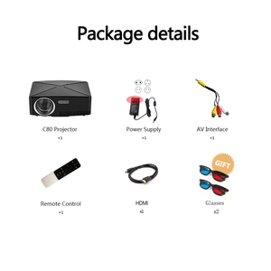 Image 5 - ALSTON HD MINI Projector C80/C80UP, 1280x720 Resolution, Android WIFI Proyector, LED Portable HD Beamer for Home Cinema