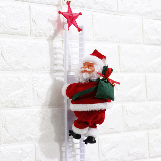 Wonderlijk Kerstman Klim De ladder Elektrische Pluche Speelgoed Gevulde WM-96