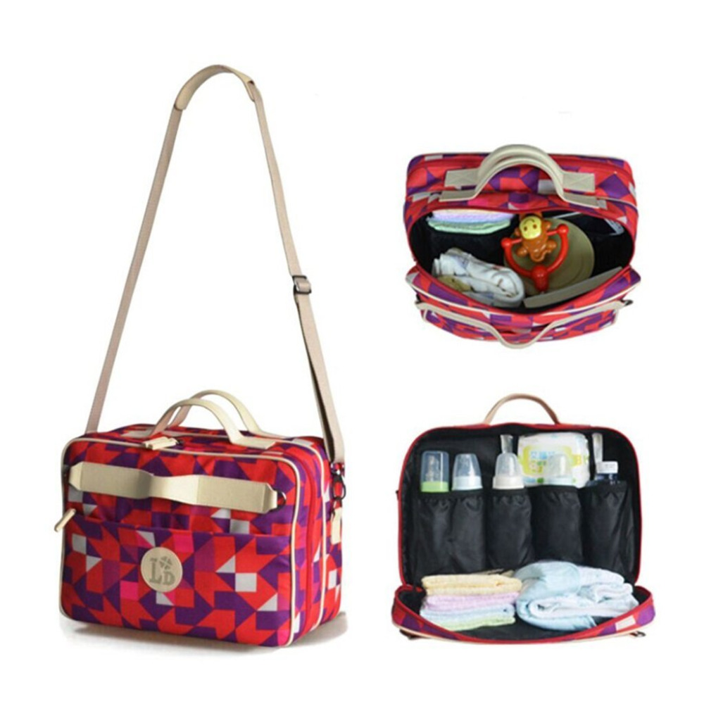 Baby Diaper Bags Stroller Bags Nappy Changing Maternity Mother Tote Shoulder Handbag Multifunctional Baby Bag for Mummy Mother 5 in 1 diaper bag set baby changing maternity infant stuff storage tote nappy bags mummy storage bags fashion baby stroller bags