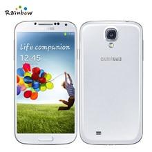 Samsung galaxy s4 i9505 original desbloqueado, 4g lte android 5.0 telefone celular com vários idiomas 2600mah destacável, fábrica bateria