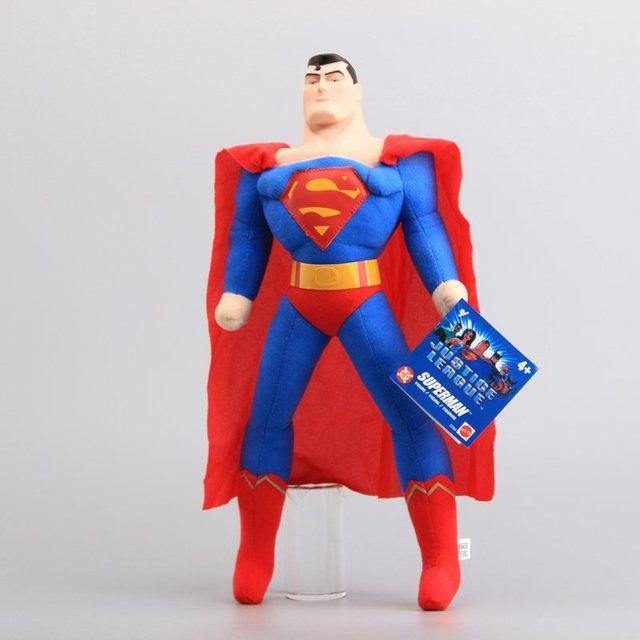 """Alta Qualidade DC Superhero Superman Plush Toys Stuffed Dolls Presente de Aniversário Dos Meninos Superman com Cabeça De Plástico 16 """"40 CM"""