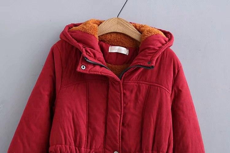 Cordon rouge Laine Hiver Oversize Noir Vestes Femmes La D'agneau Broderie Taille Plus Capuche Cachemire À Manteau Mode De Chaud En Épais Sherpa Cq1TFwBCn