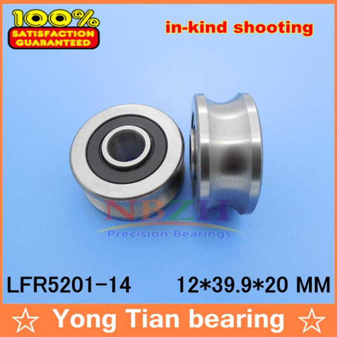 14 MM track LFR5201-14 NPP LFR5201 KDD R5201-14 2RS Groove Track Roller Bearings 12*39.9*18*20 mm (Precision double row balls) прогулочные коляски cool baby kdd 6699gb t