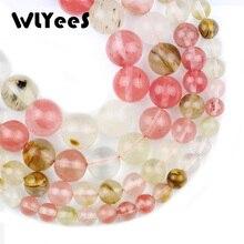 WLYeeS Natural Stone Watermelon peel red Stone bead 6 8 10 12mm Round space Loose Bead for Jewelry Bracelest Necklace Making DIY цена в Москве и Питере