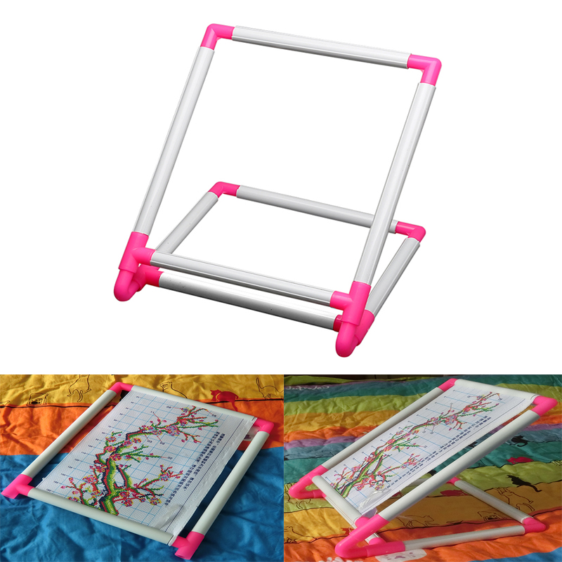 Tambour Embroidery Frame Practical Universal Clip Plastic Cross Stitch Hoop Stand Holder Support Rack DIY Craft Handheld ToolTambour Embroidery Frame Practical Universal Clip Plastic Cross Stitch Hoop Stand Holder Support Rack DIY Craft Handheld Tool