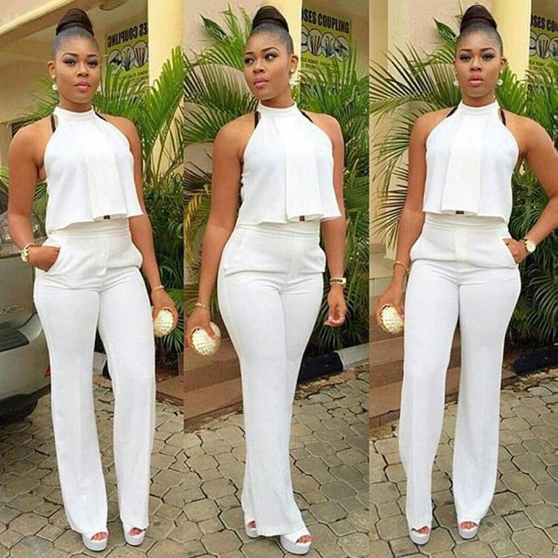 2016 New Summer Women White Pant Suit 2 Piece Set Women ...