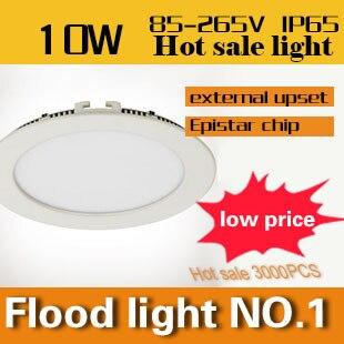 ФОТО 2pcs/Lot 10W 1000lm Led Ceiling Light Super Bright Warm/White Lights AC85V-265V + Free Shipping