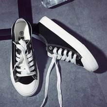 Vrouwen Sneakers 2020 Mode Verlichte Casual Vrouwelijke Schoenen Lace Up Effen Kleur Vrouwen Sneakers Basic Alle Match Gevulkaniseerd schoenen