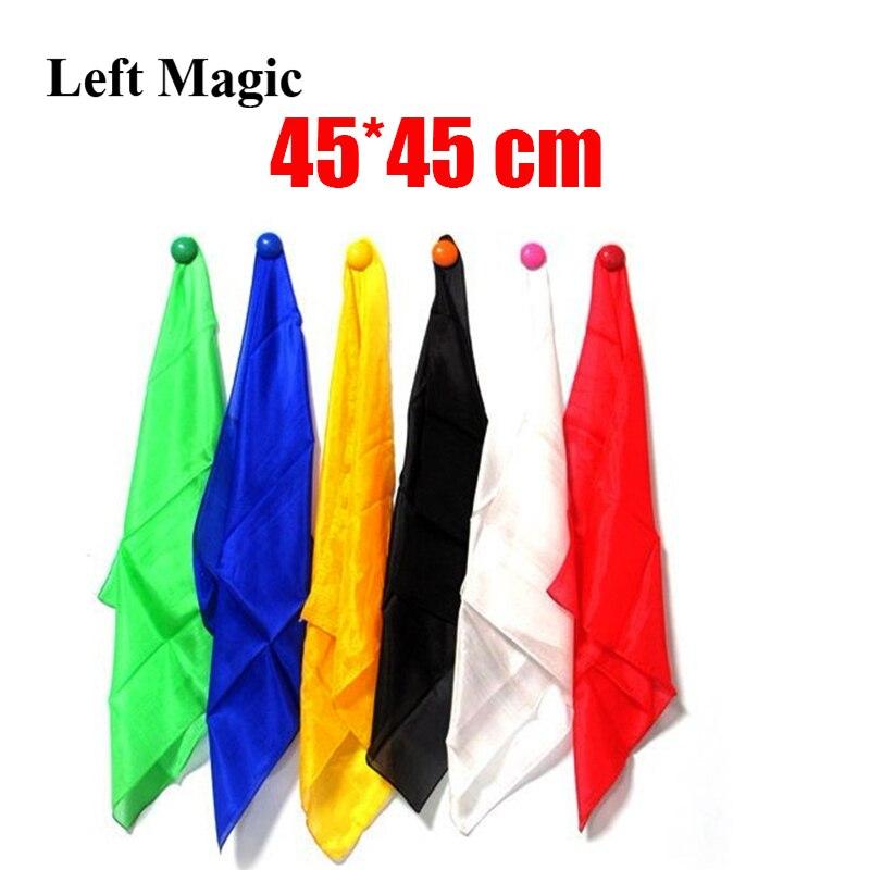 1 Pcs Colorful Silk 45* 45 Cm Scarf Magic Tricks Learning & Education Magic Silk For Close Up Magic Prop  E3136