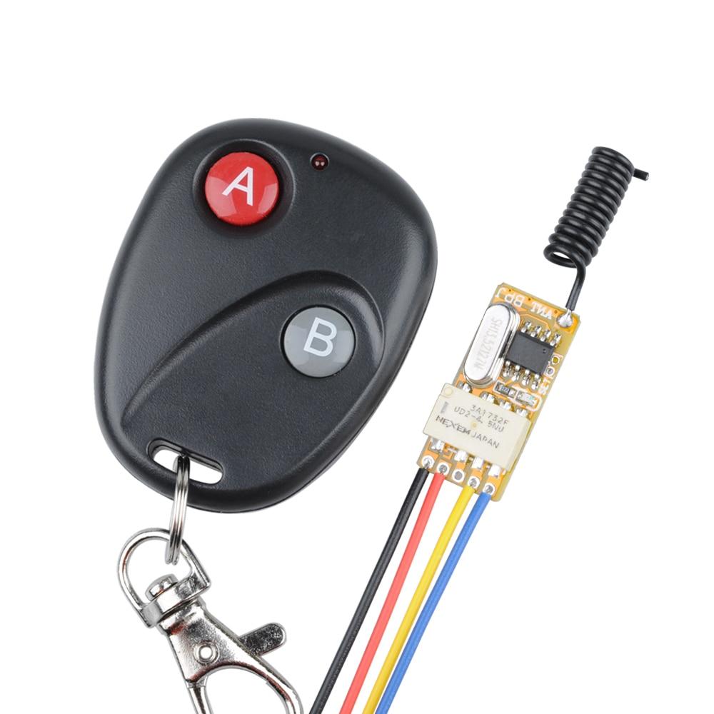 DC3V 3,7 V 5 V 6 V 7 V 9 V 12 V Mini Relay Wireless schalter Fernbedienung Power LED Lampe Controller Micro Empfänger Sender System