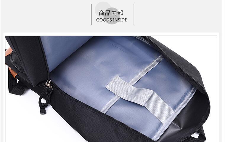 grande capacidade carga usb mochila anime mochila