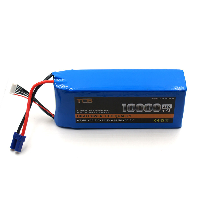 TCB RC LiPo Battery 4S 14.8V 10000mAh 25C for RC Airplane Drone Quadrotor Helicopter Car Boat Free Shipping mos rc lipo battery 22 2v 12000mah 25c 6s for airplane drone quadrotor car boat factory outlet free shipping