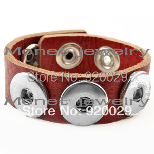 A19619 OEM ,ODM welcome newest kid children button bracelet leather bracelet