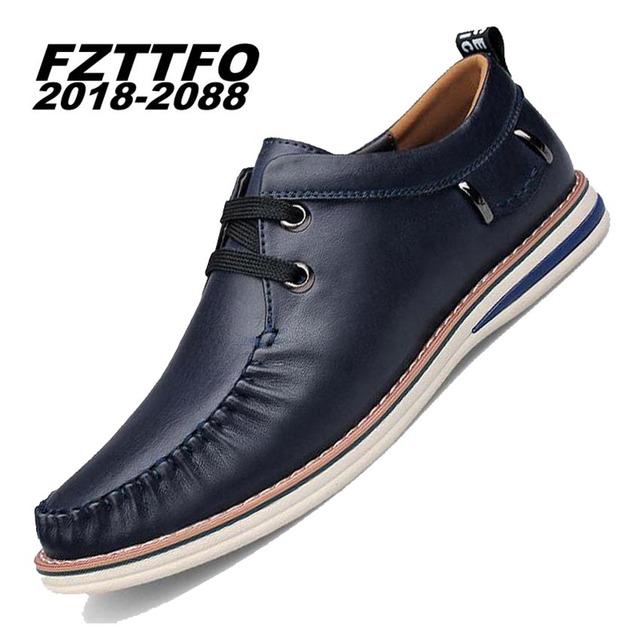 100% Hecho A Mano de Cuero Genuino de Conducción Zapatos de los hombres, Nueva Moda Barco de los hombres, Diseño de Marca Planos de los Holgazanes De Los Hombres K273
