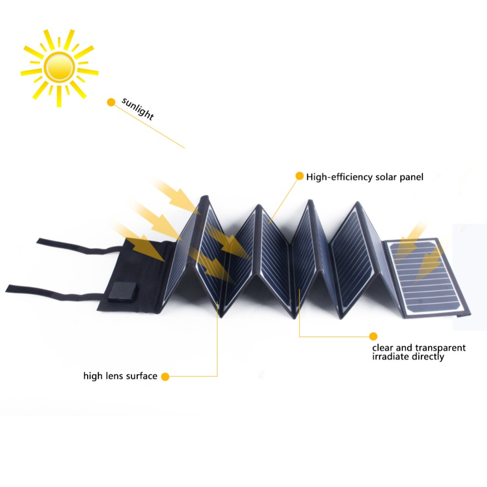 60w folding sunpower laptop solar panel charger for tablet Sunpower Solar Panel Phone Charger for iPhone, iPad,and more