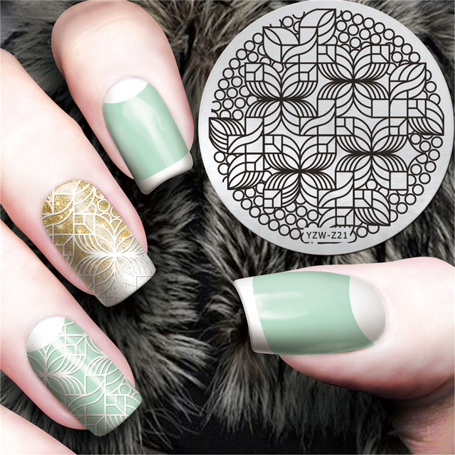 LCJ New Beauty Geometry Design Nail Stamping Plates Nail Art Image ...