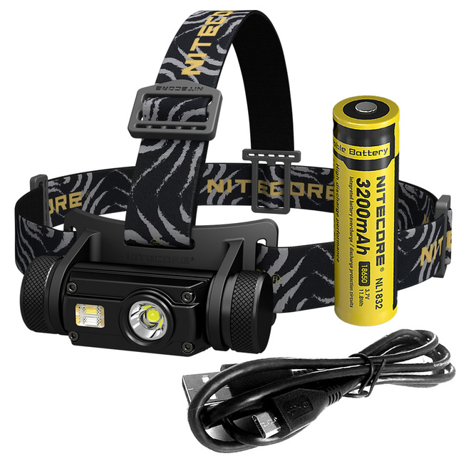 NITECORE HC65 headlight CREE XM L2 U2 1000 Lumes rechargeable flashlight waterproof camping trip 18650 battery