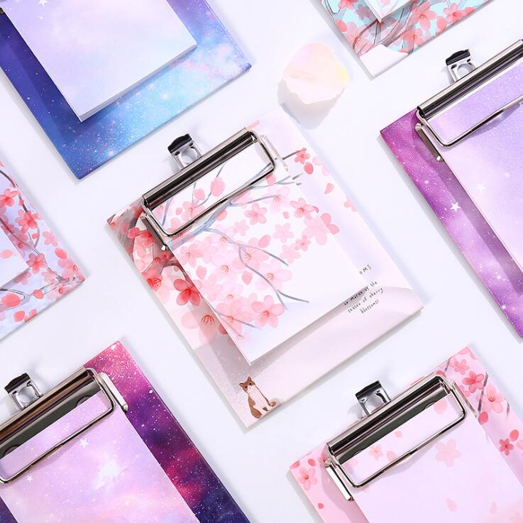 40 Sheets Kawaii Star Cherry Blossoms N Times Sticky Memo Pad Clip Note Paper Tabs Paperlaria To Do List Planner Stationery