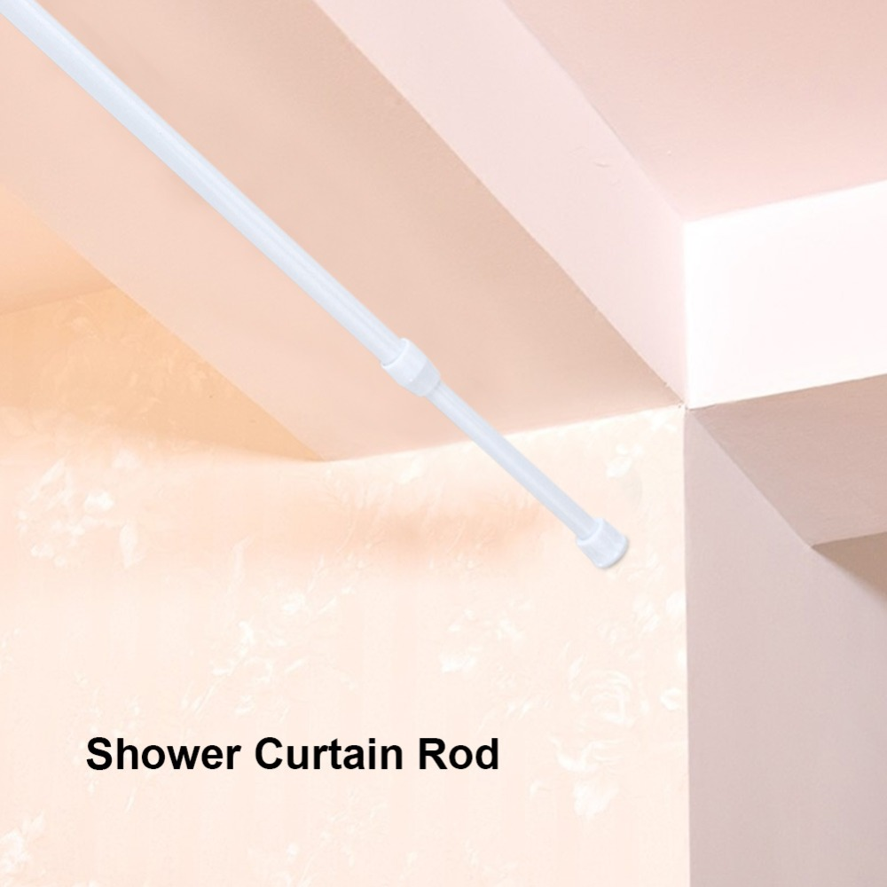 Adjustable Spring Loaded Tension Rod Shower Extendable Curtain Closet Window Rail Pole.