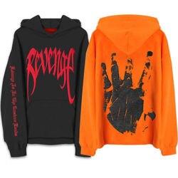 e675d98f9 Revenge Kill MENS Sweat Hoodie Sweatshirt Orange Black Hooded Handsome Plus  Size XXL