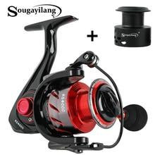Sougayilang moulinet De pêche Spinning avec bobine De rechange, pour pêche à la carpe, avec poignée repliable en carbone, 13 + 1BB