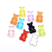 100pcs Gradient Color Gummy  Resin Bear Decoration Crafts Flatback Cabochon Embellishments For Scrapbooking Kawaii Accessories