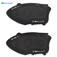 MIDLAND Gepaart BT NÄCHSTEN Bluetooth Motorrad Motorrad Helm Intercom Headset wasserdicht Sprech reden abstand 1600 Mt