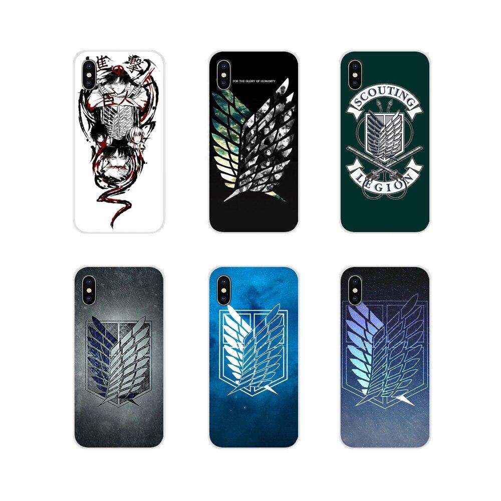 Silicone Cover Bag For Xiaomi Redmi Note 6A MI8 Pro S2 A2 Lite Se MIx 1 Max 2 3 For Oneplus 3 6T Attack on Titan Scouting Legion