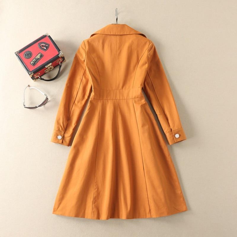 Señora Asimétrica Vestido Nuevo Wear Collar Calidad 2018 Work Cintura Amarillo Slim Ocasional Mujeres Otoño Del Alta PgORq11