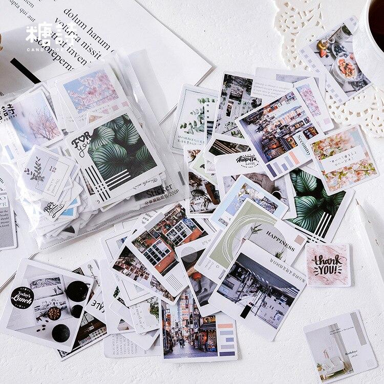 Cute Cartoon Korean Decorative Stickers 200pcs/lot Cute Dessert Character Stationery Scrapbooking DIY Diary Label Album Sticker