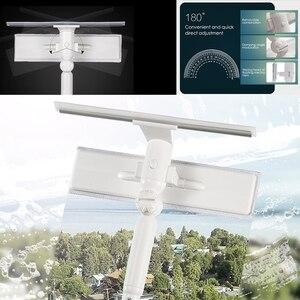 Image 4 - מנקה חלון זכוכית ניקוי מברשת כלי עם 180 מגב ראש הארכת מוט מיקרופייבר בד עבור מקורה וחיצוני Windows