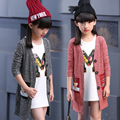 Loose Cardigan for Girls Sweaters Children Knitting Outerwear Infant Knitwear Autumn Casual Kid Clothing Coat Cartoon 2 10 12 14