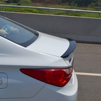 SHCHCG For Hyundai Sonata 2011 2012 2013 ABS Plastic Rear Trunk Lip Boot Wing Unpainted Primer Rear Roof Spoiler Car Accessories