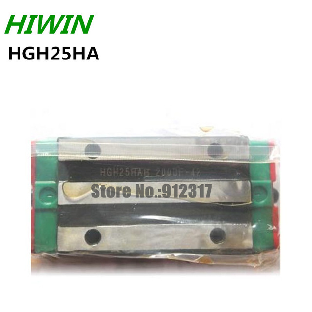 4PCS Original HIWIN Rail Carriage Block HGH25HA HIWIN Slider block for linear rails HGR25