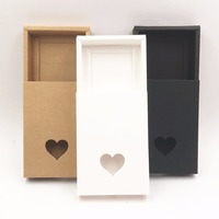Marrón/blanco/negro Kraft Cajón de Papel Hecho A Mano Cajas de Regalo, DIY Favor de La Boda Caja De Dulces de Embalaje \ torta \ \ \ Regalo de chocolate
