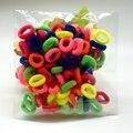 300 pcs Coloridos Anéis de Faixas de Cabelo De Borracha Cabelo Ropes Headwear Elastic Cabelo Das Meninas Do Bebê