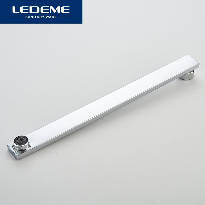 lowest price 24 Inch 60cm Stainless Steel Wall Mounted Tube Rain Bathroom Fixtures Replacement Shower Head Shower Arms