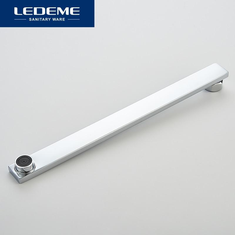 LEDEME  Bathroom Faucet Chrome Finish New Wall Mounted Waterfall Bathroom Bathtub Handheld Shower Tap Mixer Faucet L2584