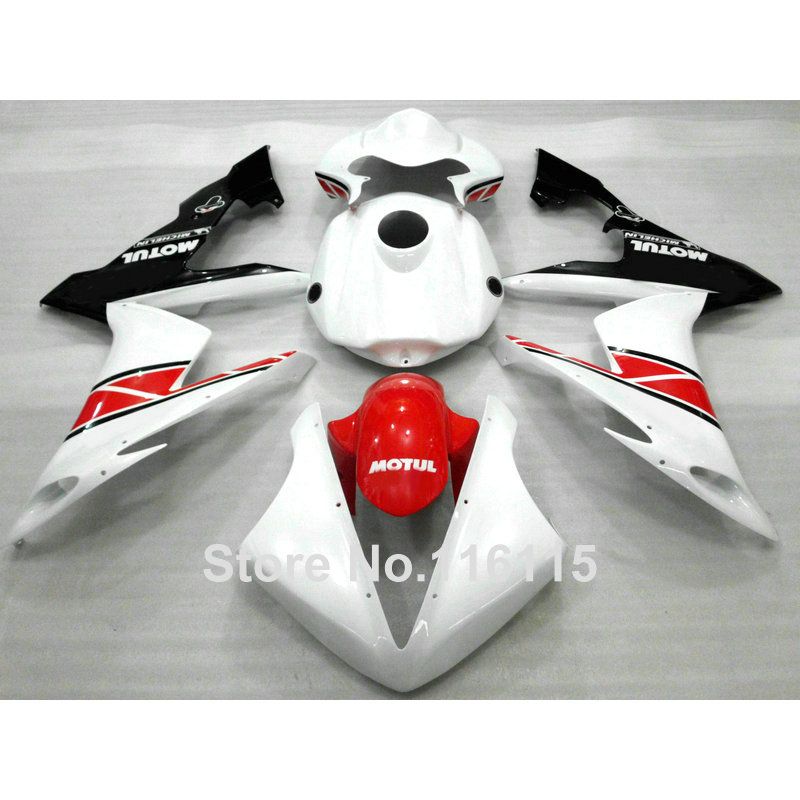 Injection molding high quality fairings set for YAMAHA YZF R1 2004 2005 2006 black white red fairing kit YZF-R1 04 05 06 CY49 injection molding hot sale fairing kit for yamaha yzf r6 06 07 white red black fairings set yzfr6 2006 2007 tr16