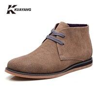 NEW Fashion Men Shoes Sankle Boots Men Comfortable Genuine Leather Shoes Men Casual Male Martin Boots